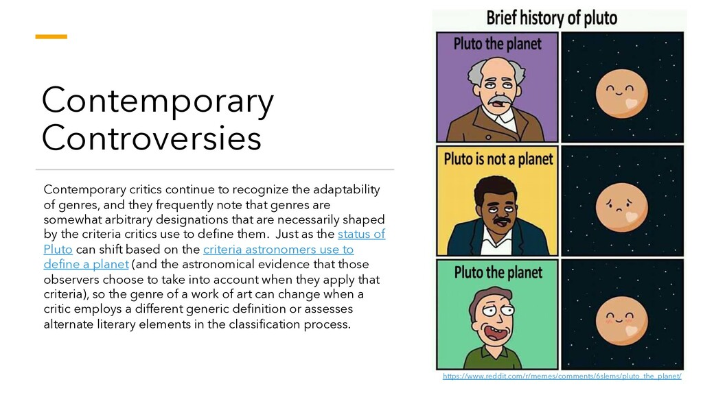 Contemporary Controversies Contemporary critics...