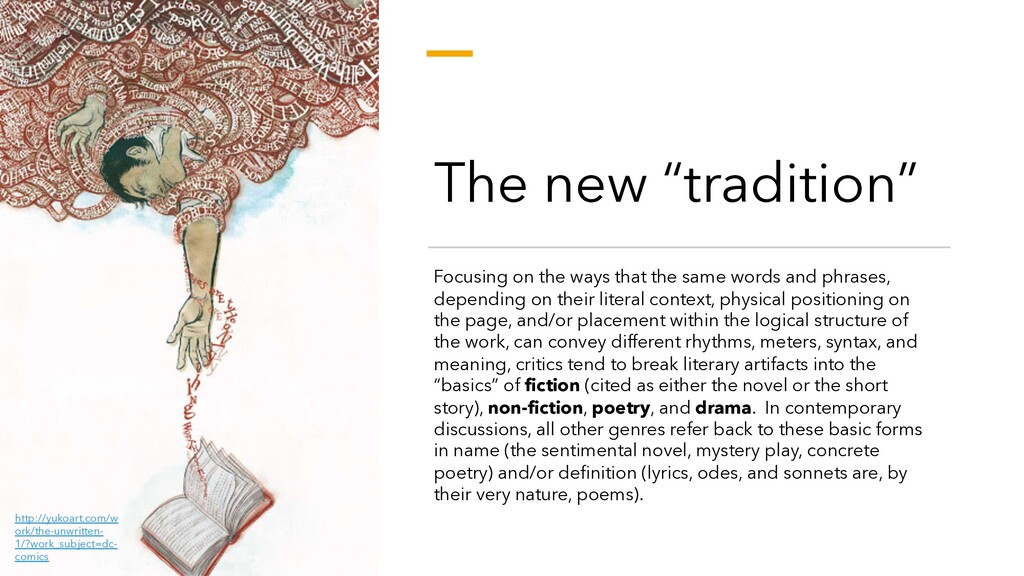 """The new """"tradition"""" Focusing on the ways that t..."""