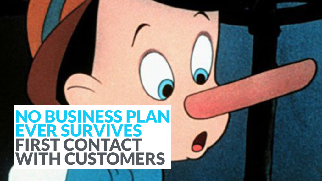 NO BUSINESS PLAN EVER SURVIVES FIRST CONTACT W...