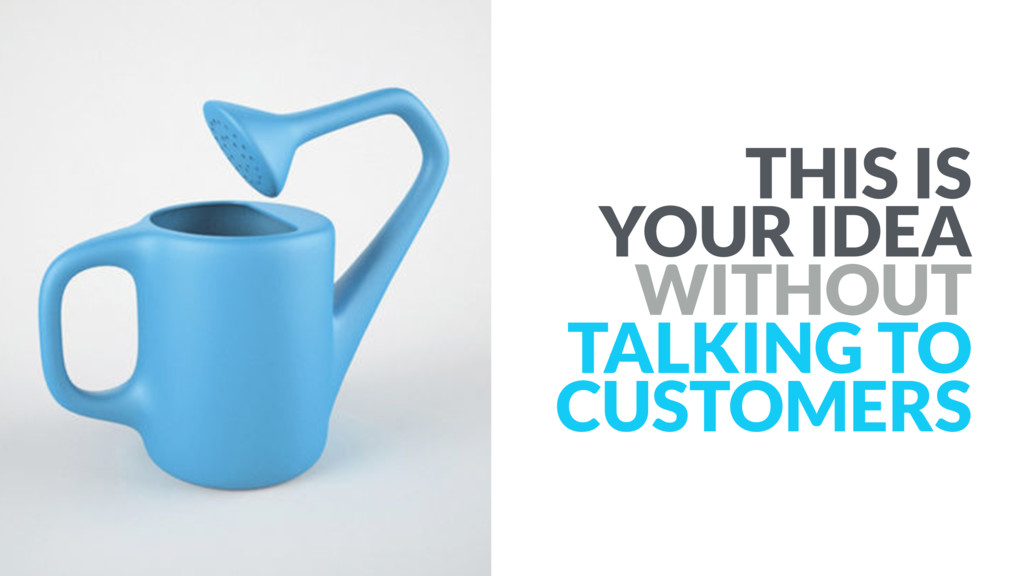 THIS IS YOUR IDEA WITHOUT TALKING TO CUSTOMERS