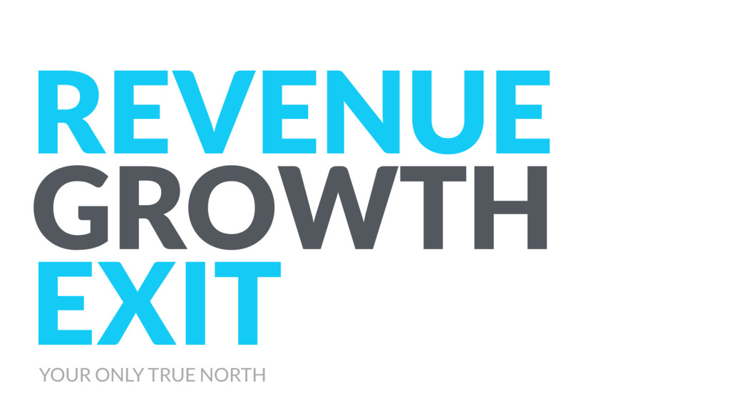 REVENUE GROWTH EXIT YOUR ONLY TRUE NORTH