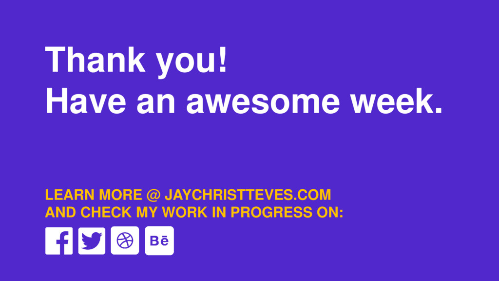 Thank you! Have an awesome week. LEARN MORE @ J...