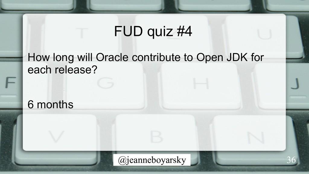 @jeanneboyarsky FUD quiz #4 How long will Oracl...