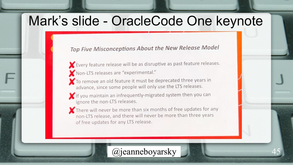 @jeanneboyarsky 45 Mark's slide - OracleCode On...