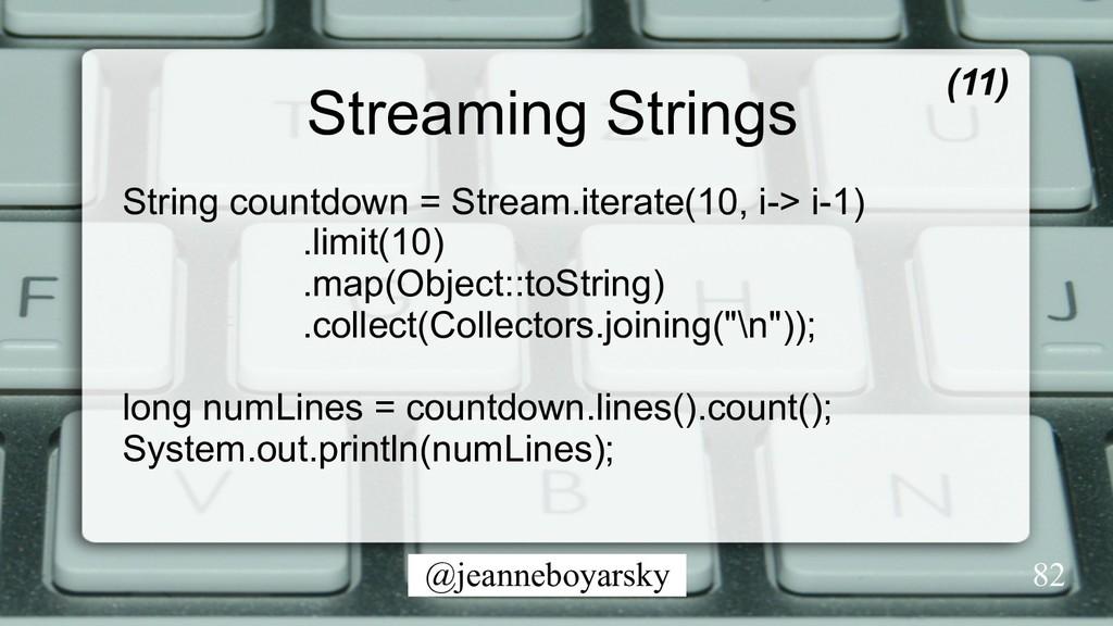 @jeanneboyarsky Streaming Strings (11) 82 Strin...