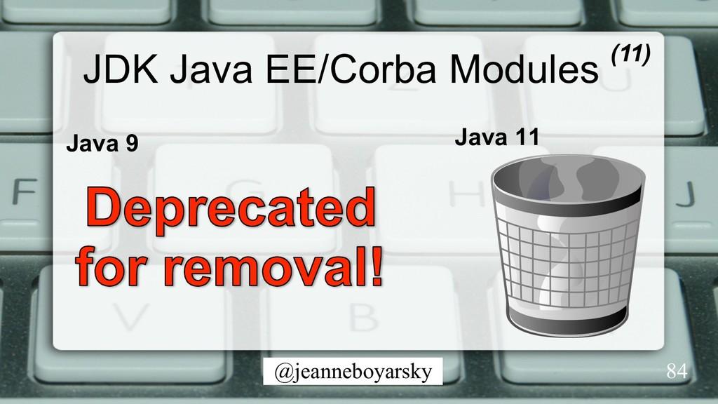 @jeanneboyarsky JDK Java EE/Corba Modules Java ...