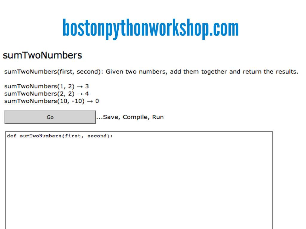 bostonpythonworkshop.com