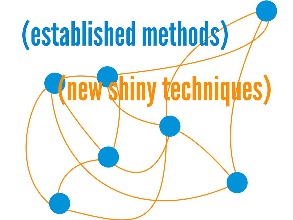 (established methods) (new shiny techniques)