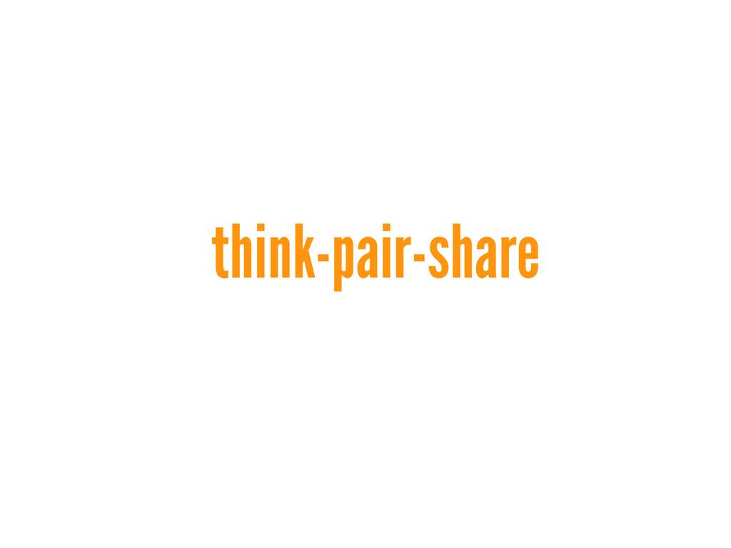 think-pair-share