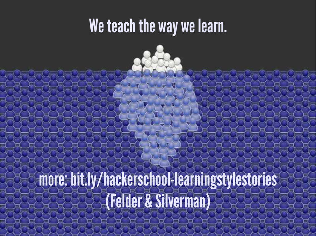 We teach the way we learn. more: bit.ly/hackers...