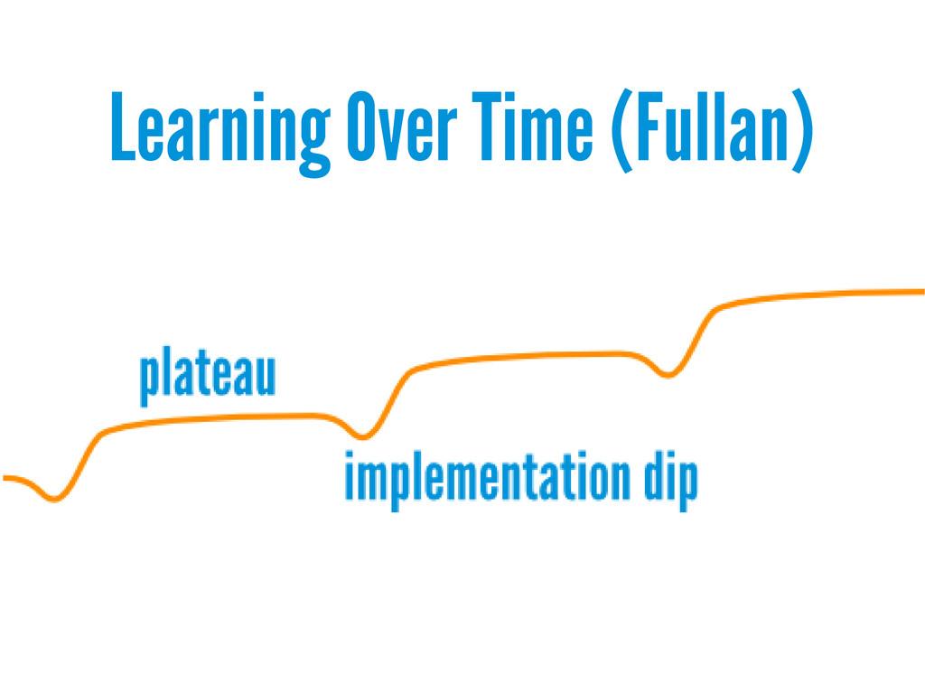Learning Over Time (Fullan)