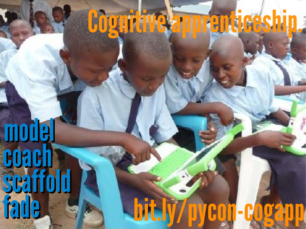 Cognitive apprenticeship. model model coach coa...