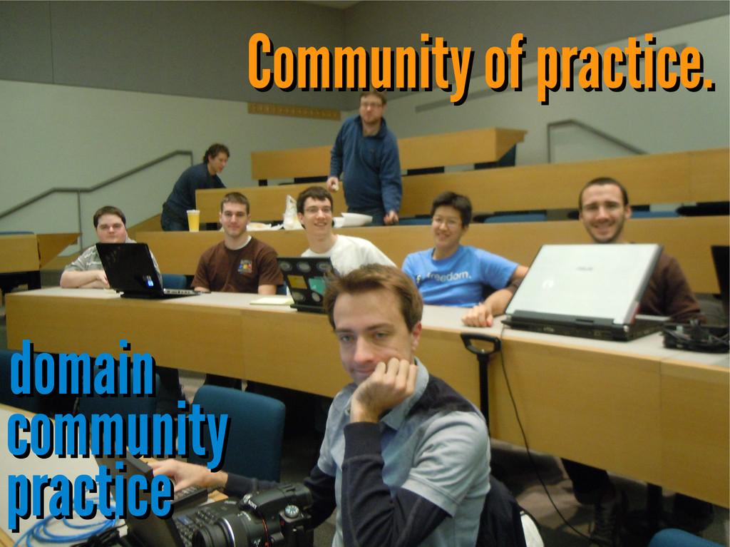 Community of practice. Community of practice. d...