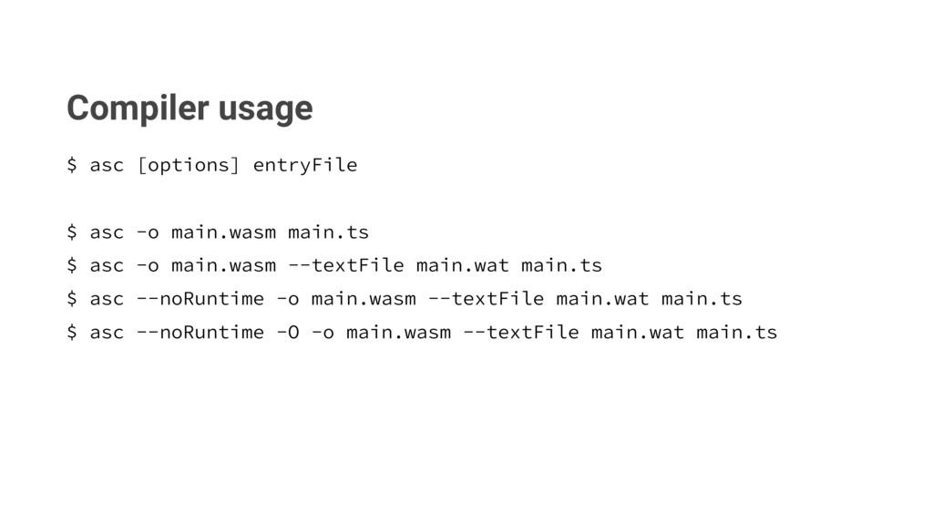 Compiler usage BTD<PQUJPOT>FOUSZ'JMF BTD...