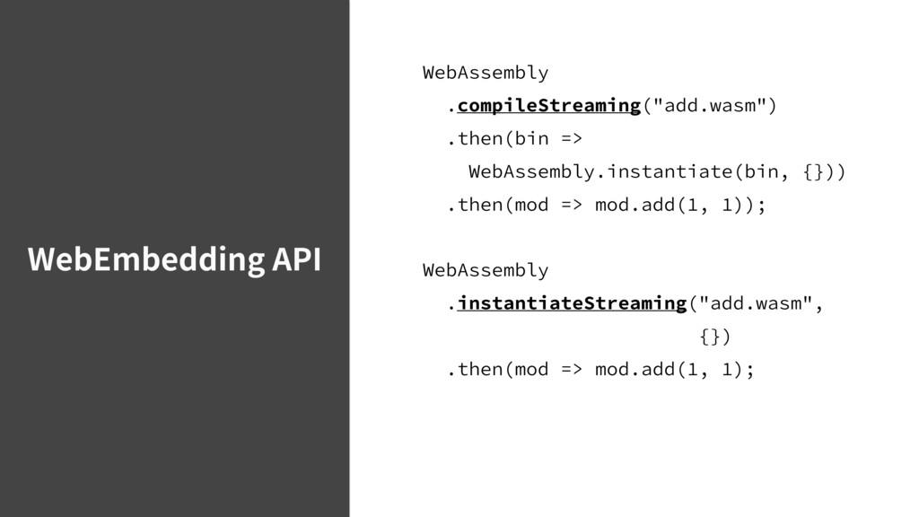 """WebEmbedding API 8FC""""TTFNCMZ DPNQJMF4USFBNJ..."""