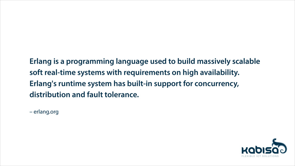 – erlang.org Erlang is a programming language u...