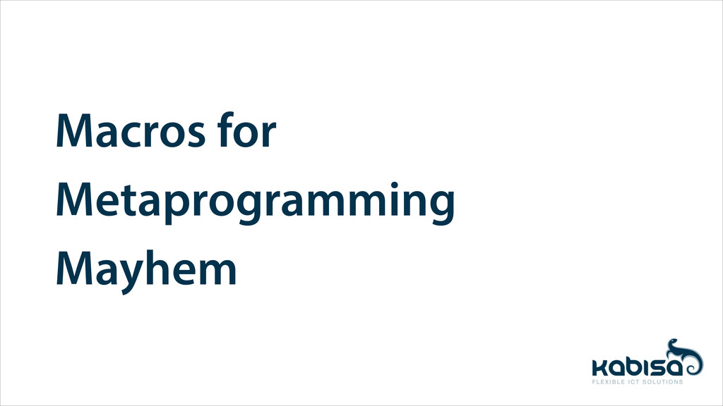 Macros for