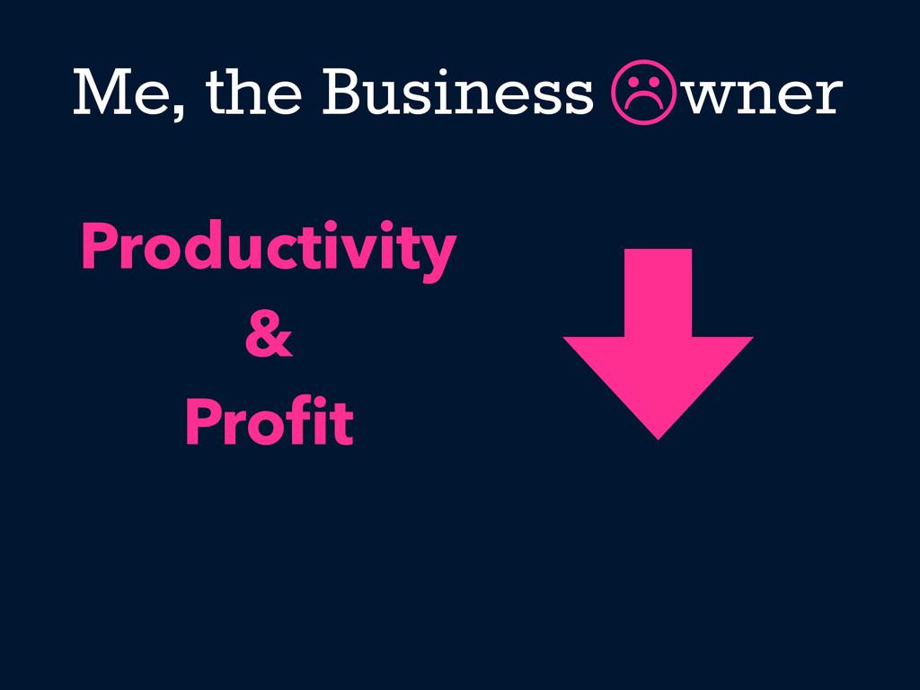 Me, the Business wner  Productivity & Profit