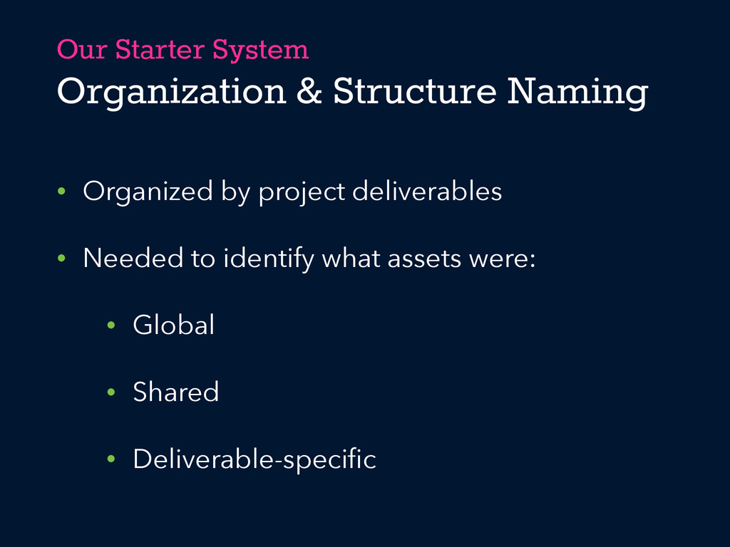Our Starter System Organization & Structure Nam...