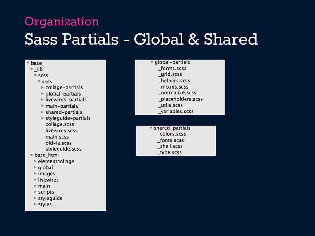 Organization Sass Partials - Global & Shared