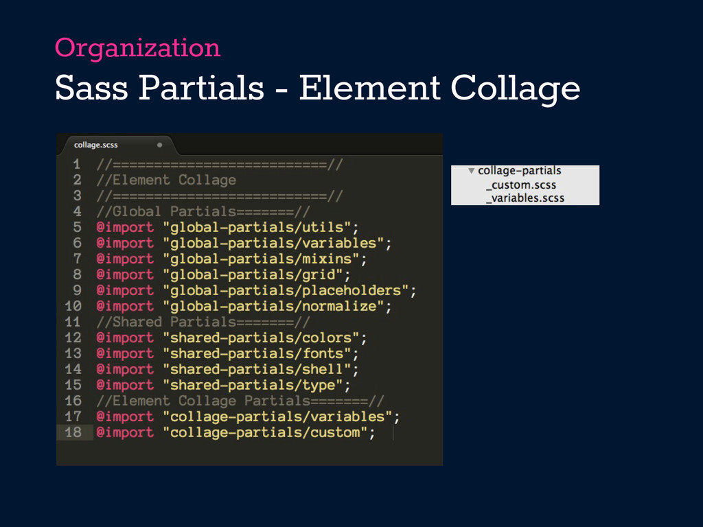Organization Sass Partials - Element Collage