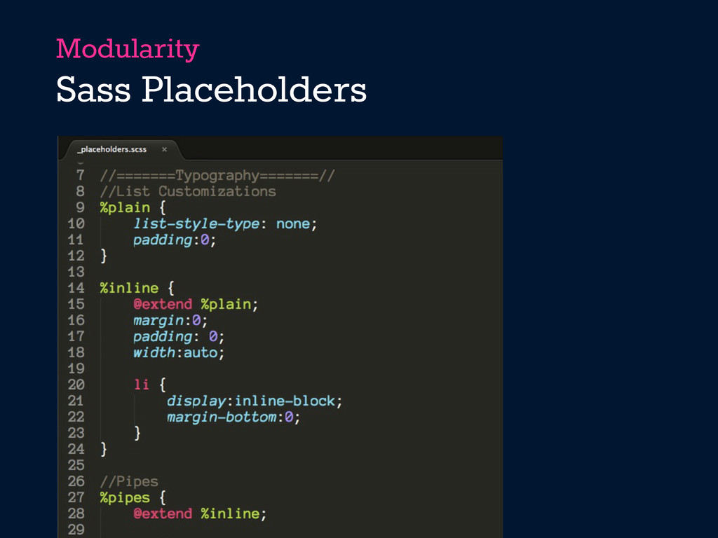 Modularity Sass Placeholders