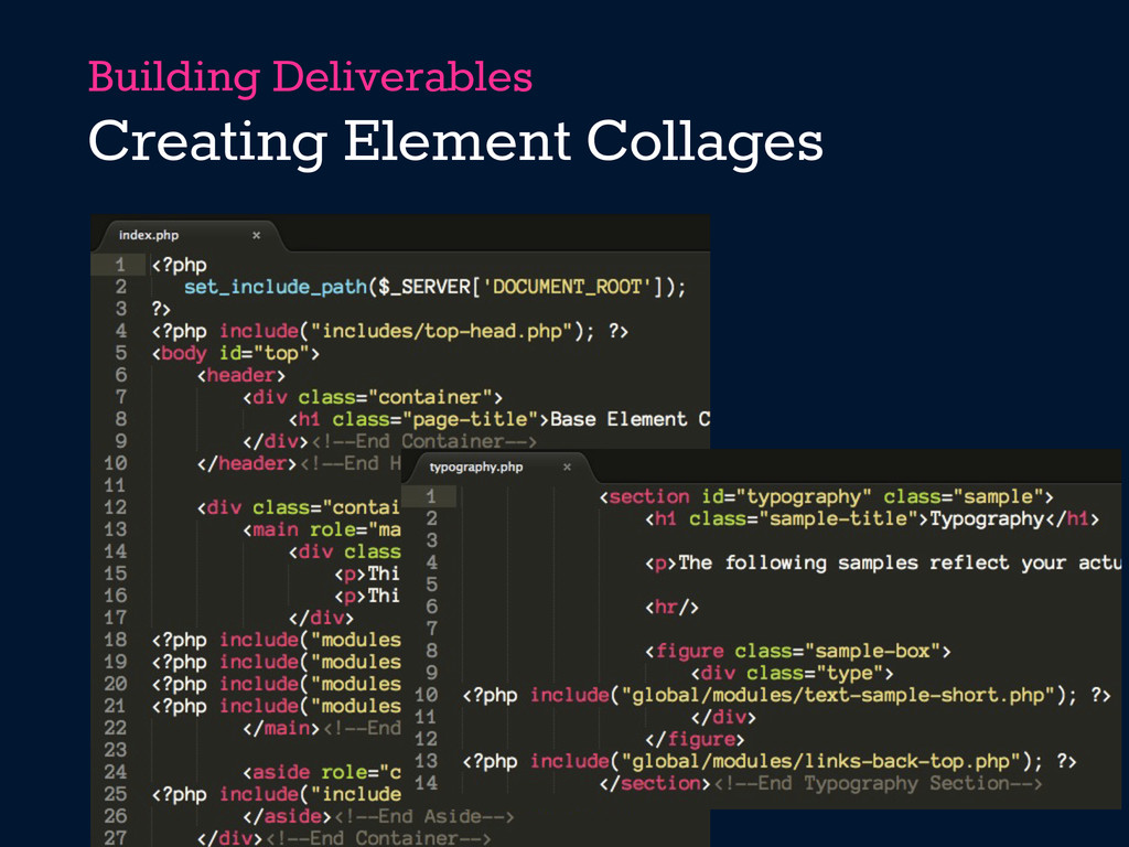 Building Deliverables Creating Element Collages