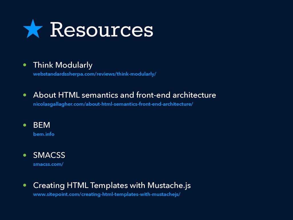 ˒ Resources • Think Modularly webstandardssherp...