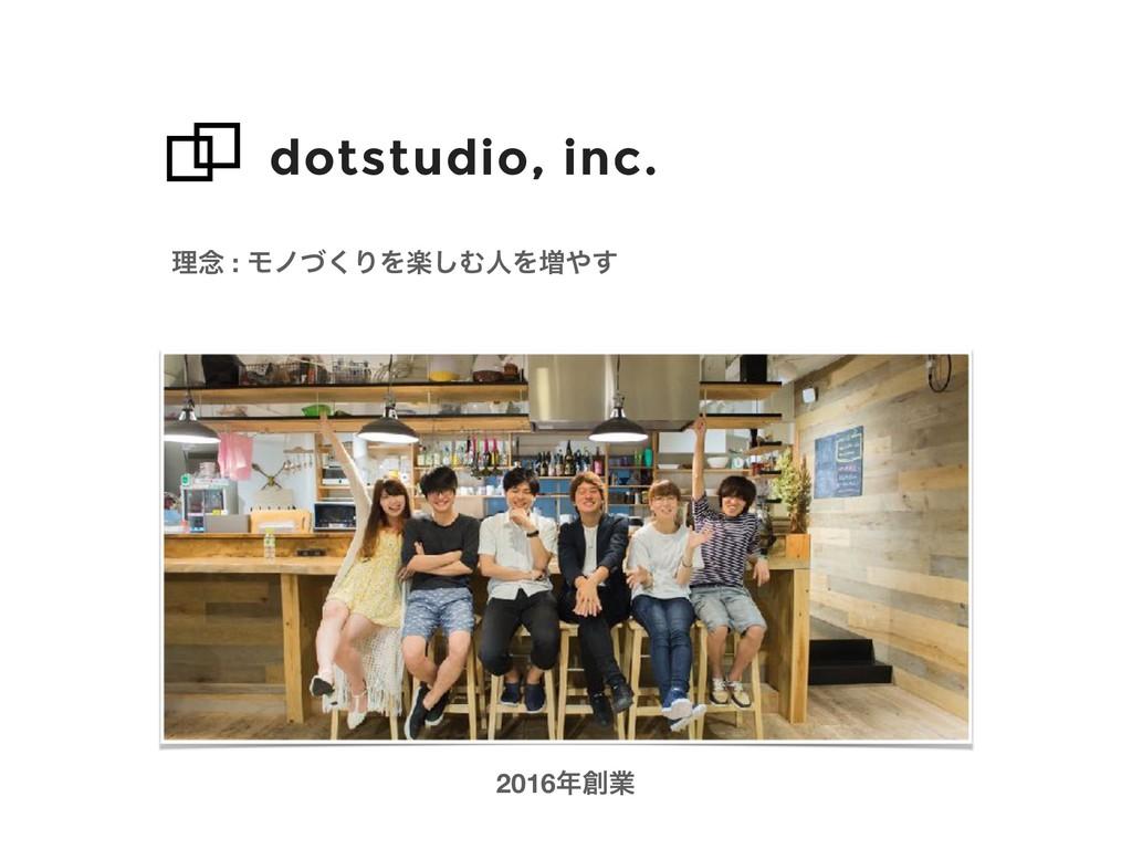 dotstudio, inc. ཧ೦ : Ϟϊͮ͘ΓΛָ͠ΉਓΛ૿͢ 2016ۀ