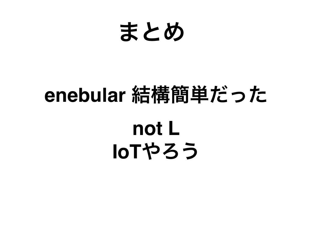 ·ͱΊ enebular ݁ߏ؆୯ͩͬͨ not L IoTΖ͏