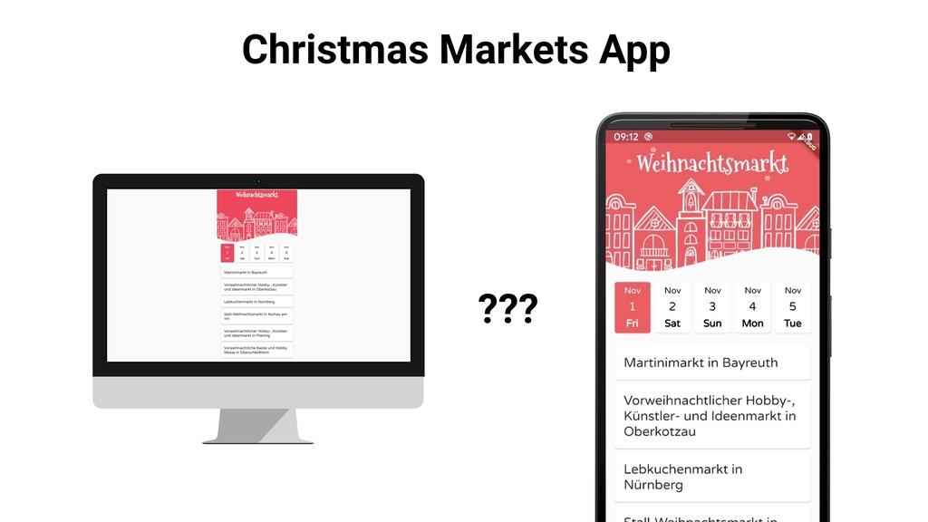 Christmas Markets App ???