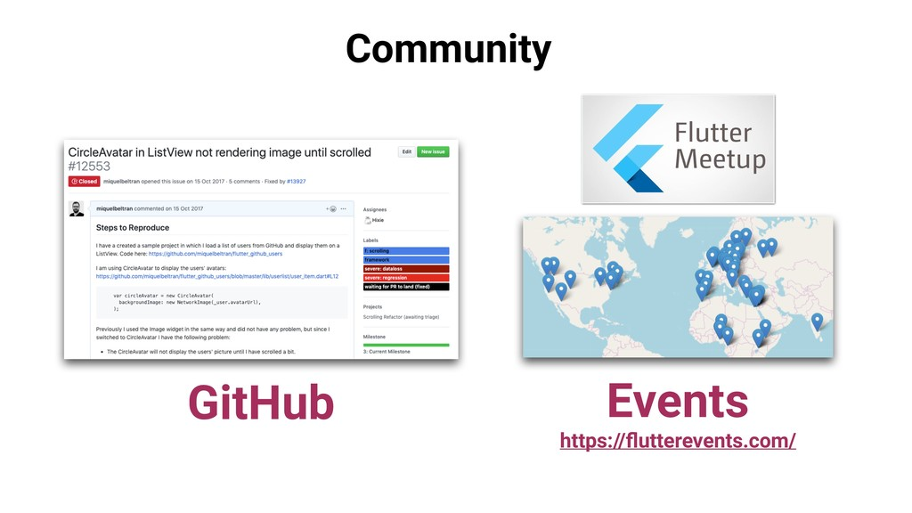 Community GitHub Events https://flutterevents.co...