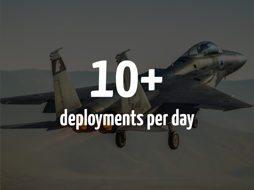 10+ deployments per day