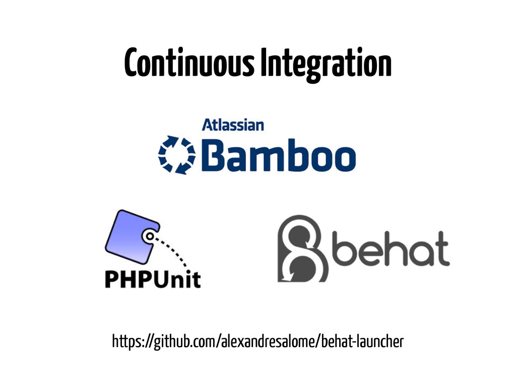Continuous Integration https://github.com/alexa...