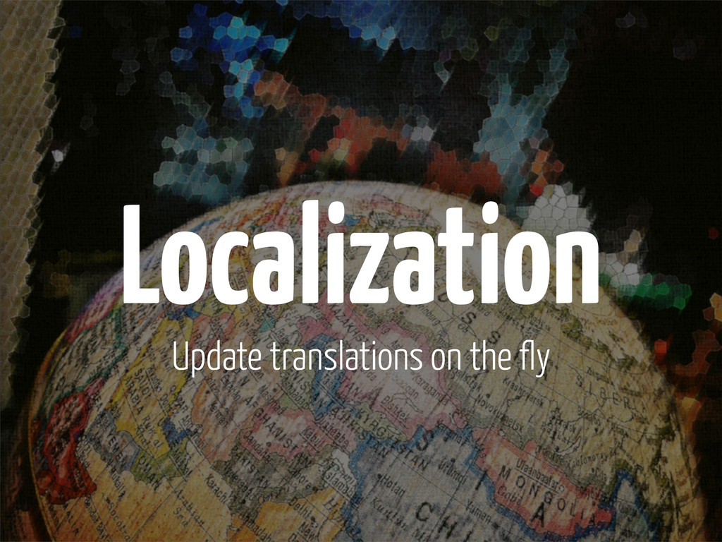 Localization Update translations on the fly