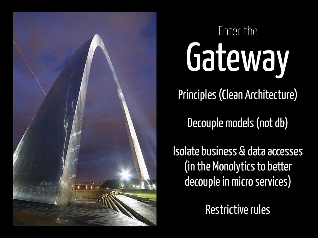 Gateway Principles (Clean Architecture) Decoupl...