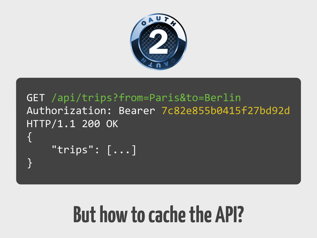 But how to cache the API? GET	