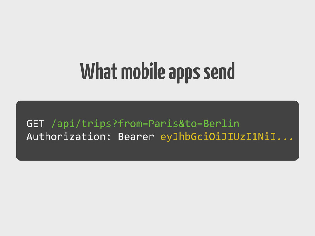 What mobile apps send GET	