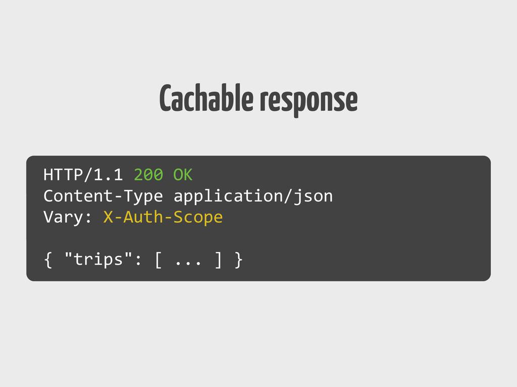 Cachable response HTTP/1.1 200 OK  Con...