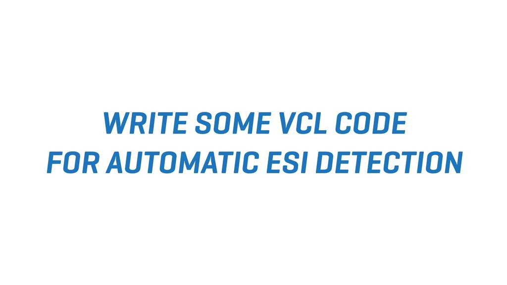 WRITE SOME VCL CODE FOR AUTOMATIC ESI DETECTION