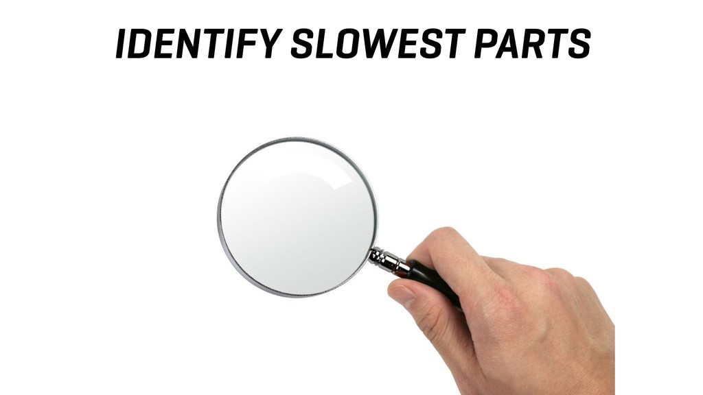 IDENTIFY SLOWEST PARTS