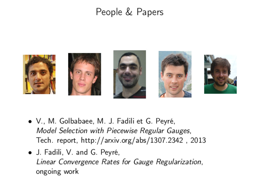 People & Papers • V., M. Golbabaee, M. J. Fadil...