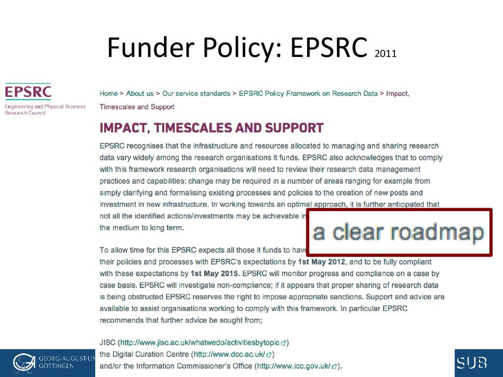 [Anlass der Präsentation] Funder Policy: EPSRC ...