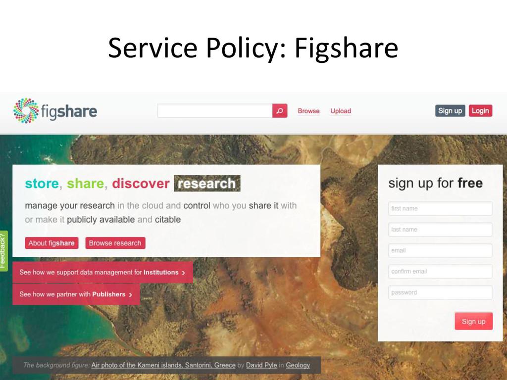 [Anlass der Präsentation] Service Policy: Figsh...