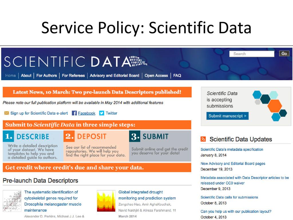 [Anlass der Präsentation] Service Policy: Scien...