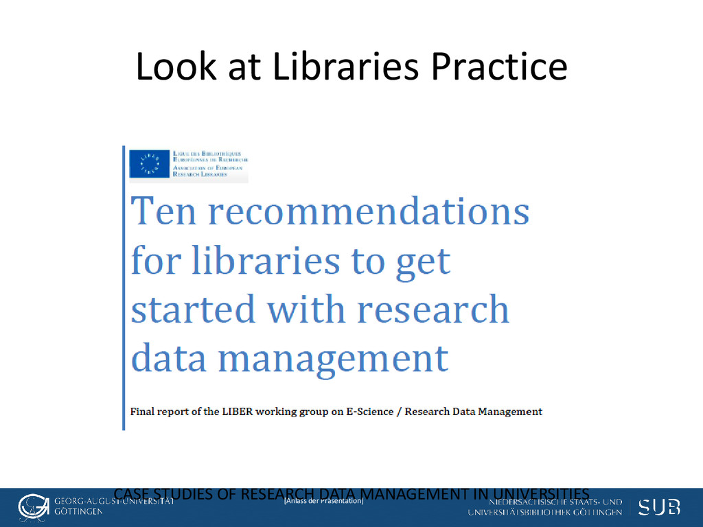[Anlass der Präsentation] Look at Libraries Pra...