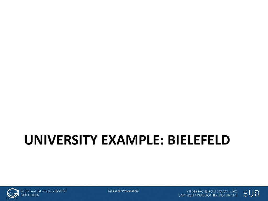 [Anlass der Präsentation] UNIVERSITY EXAMPLE: B...
