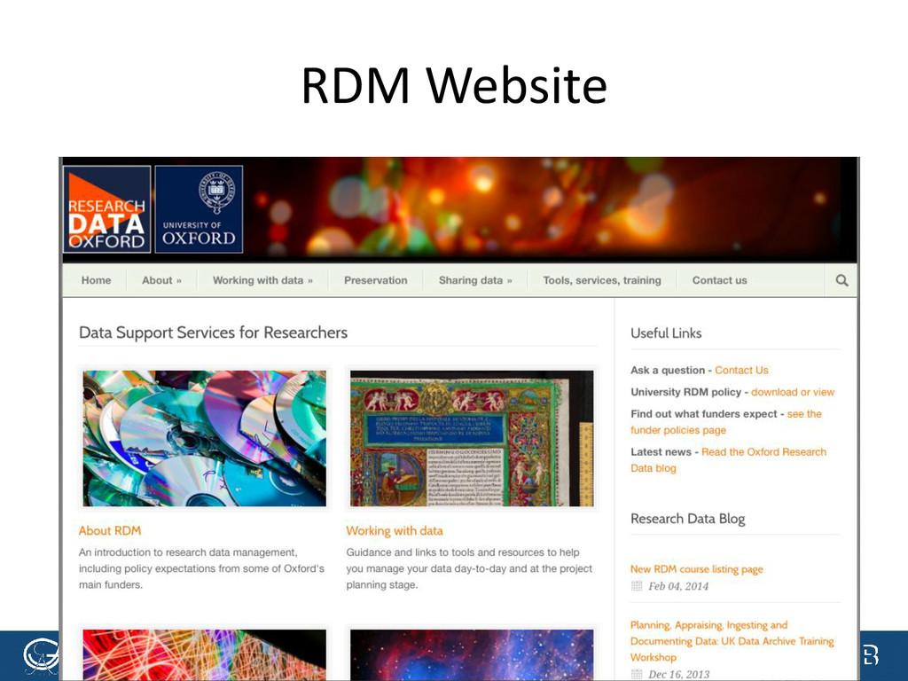 [Anlass der Präsentation] RDM Website