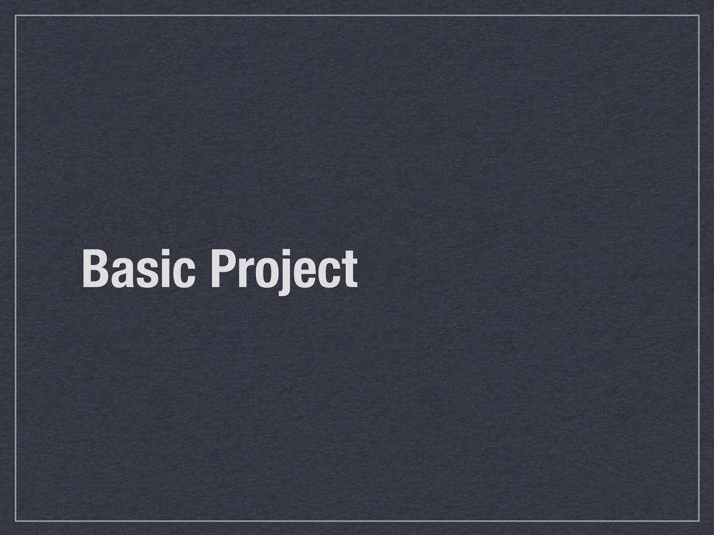 Basic Project