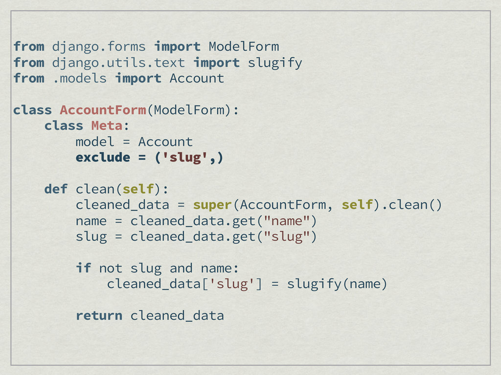 from django.forms import ModelForm from django....